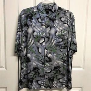 Crazy Horse Camp Shirt Size XL Floral